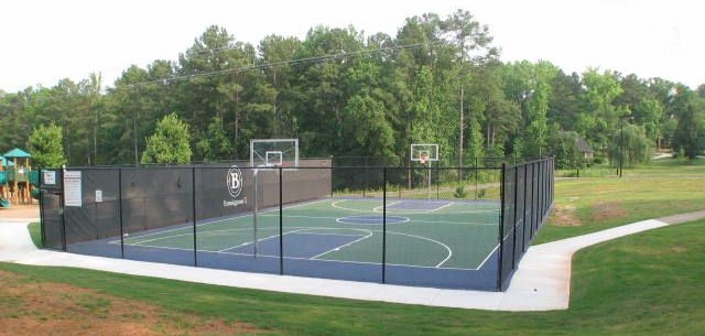 Enclosed Basket Ball Court
