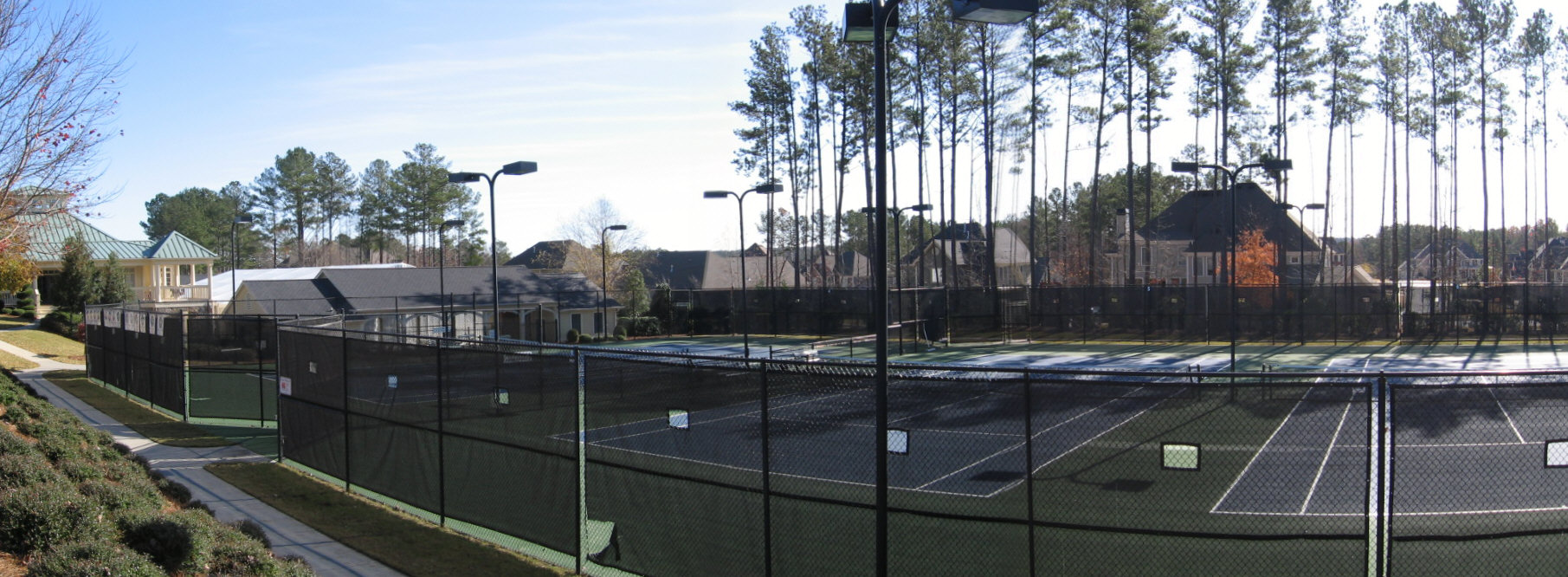 Floodlite Tennis Courts