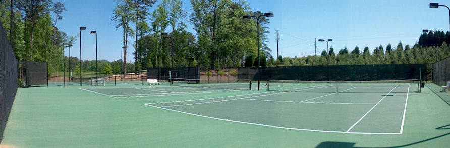 Five Floorlite Tennis Courts
