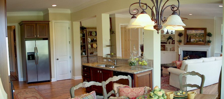 Gourmet Kitchens With Hardwood Floors, Granite Counters, Stainless Steel Appliances And Italian Cabinets