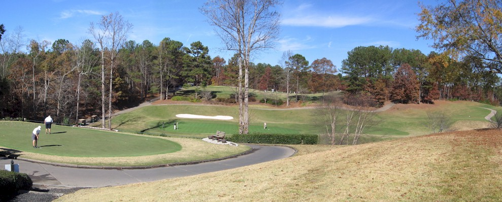 Putting Greens at Towne Lake Hills, Woodstock GA.